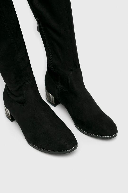 čierna Answear - Vysoké čižmy Seastar