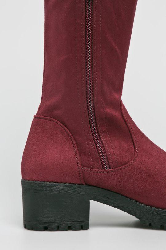 kasztanowy Answear Lab - Kozaki Ideal Shoes