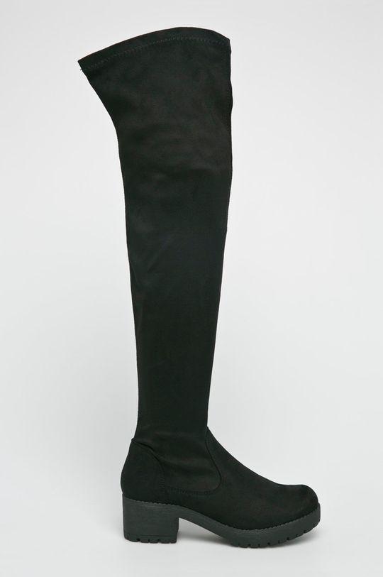 czarny Answear Lab - Kozaki Ideal Shoes Damski