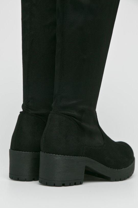 Answear Lab - Kozaki Ideal Shoes Cholewka: Materiał tekstylny, Wnętrze: Materiał tekstylny, Podeszwa: Materiał syntetyczny,