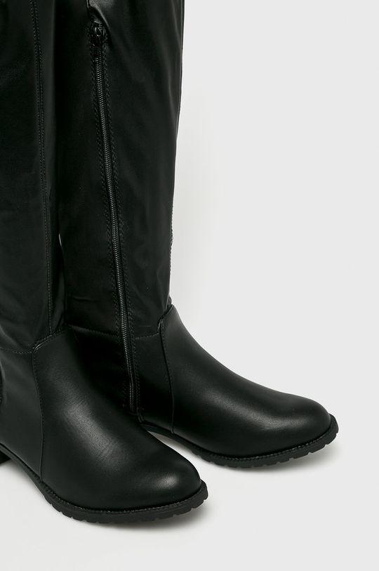 Answear - Vysoké čižmy čierna