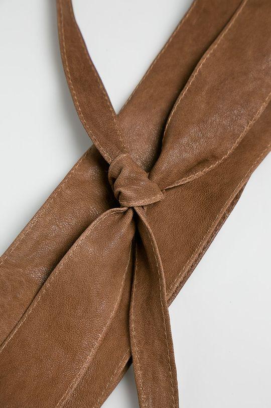 Answear - Kožený opasok hnedá