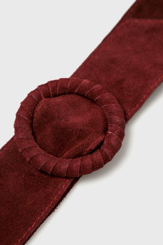 Answear - Kožený opasok Heritage gaštanová
