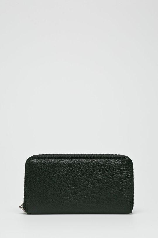 čierna Answear - Kožená peňaženka Dámsky