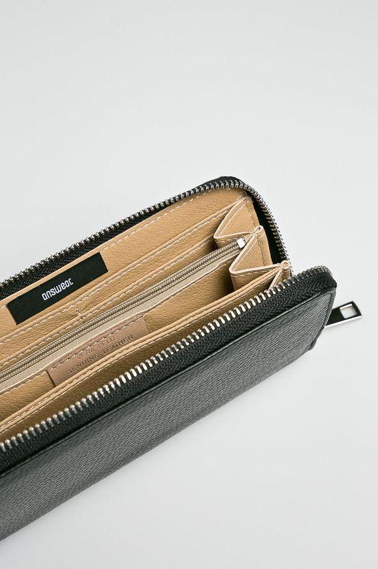 čierna Answear - Kožená peňaženka