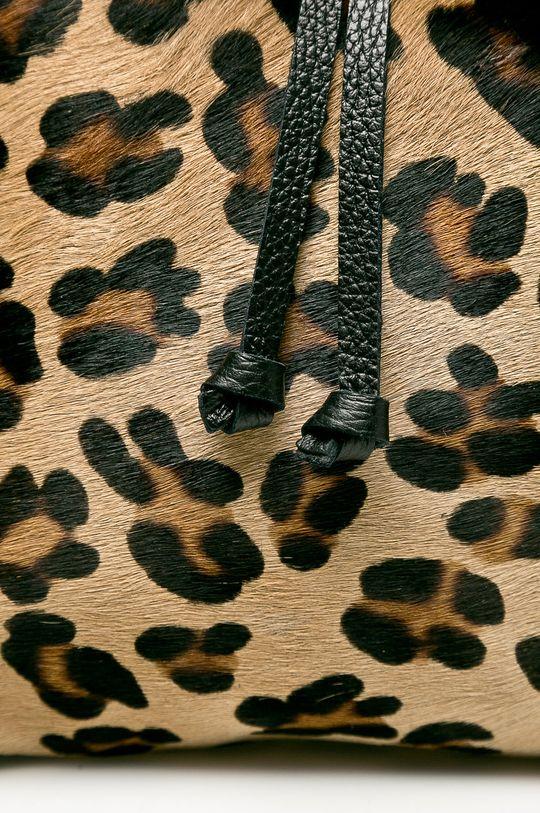 Answear - Kožený ruksak viacfarebná