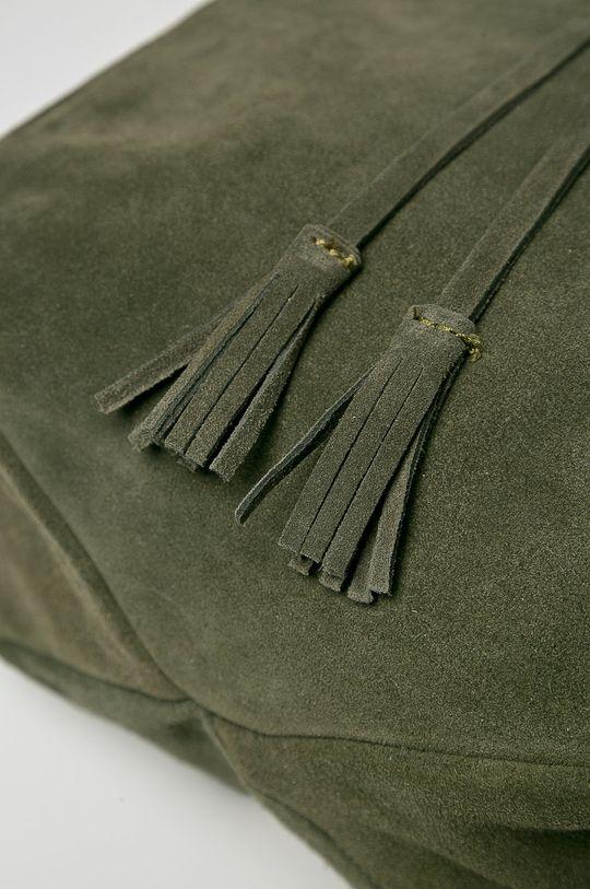 hnedozelená Answear - Kožený ruksak