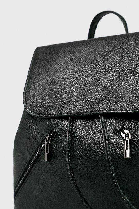 Answear - Kožený ruksak čierna