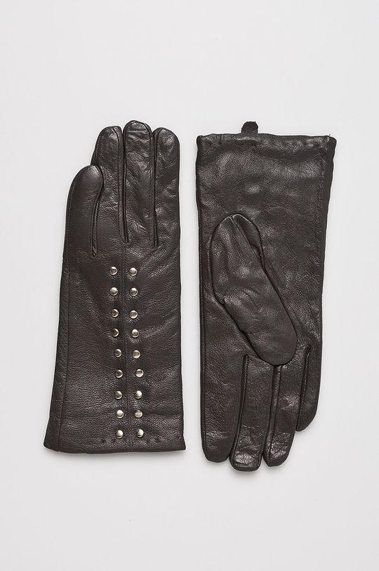 sivá Answear - Kožené rukavice Dámsky