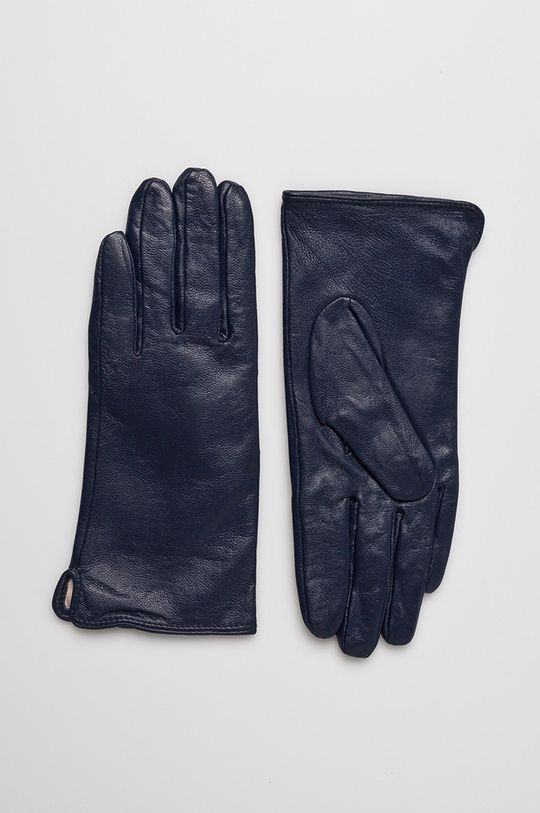 tmavomodrá Answear - Kožené rukavice Dámsky