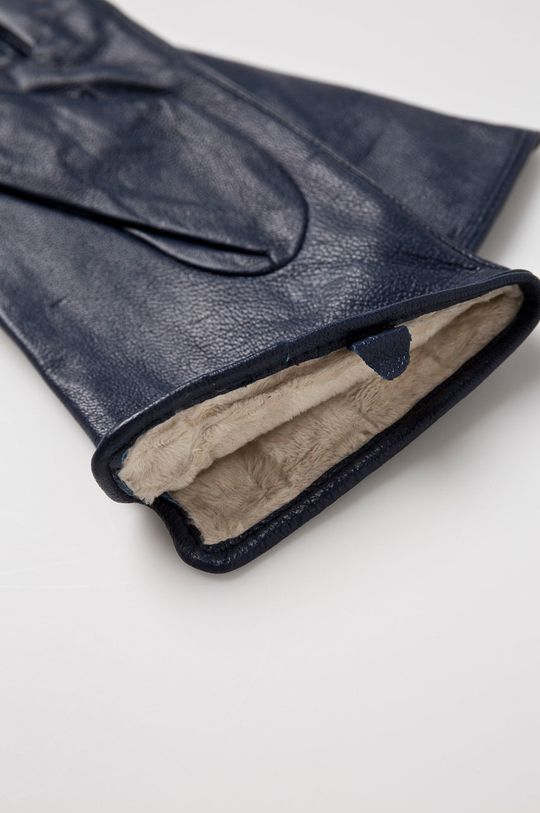 Answear - Kožené rukavice tmavomodrá