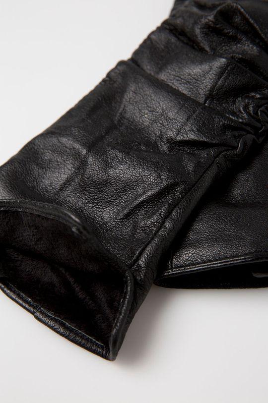 Answear - Kožené rukavice Animal Me čierna