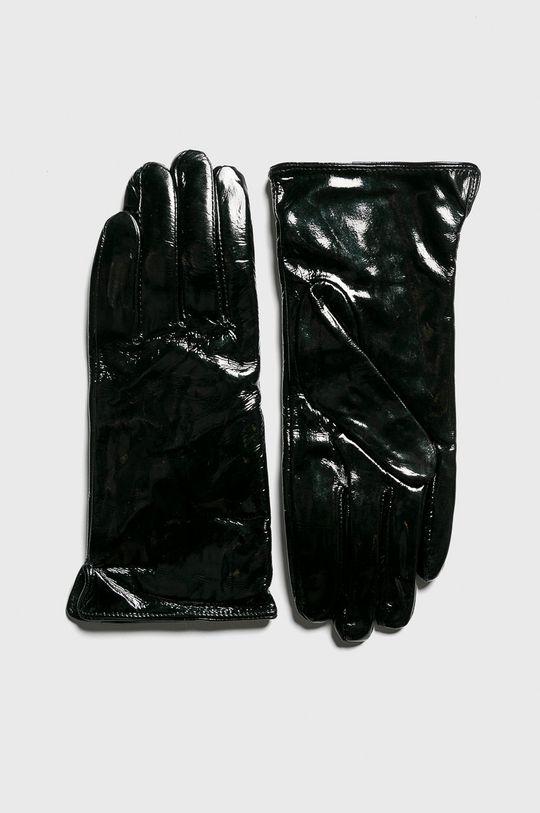 čierna Answear - Kožené rukavice Dámsky