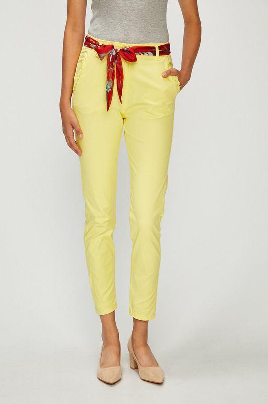 galben Answear - Pantaloni De femei