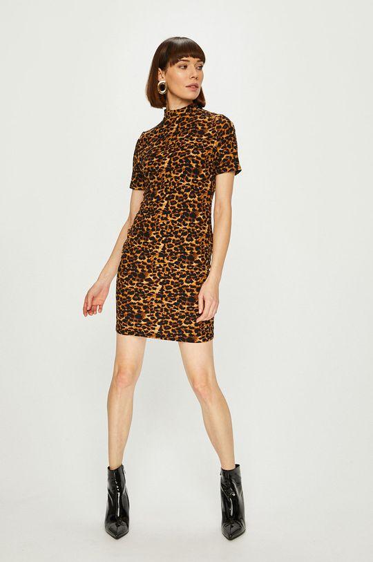 Answear - Šaty Animal Me viacfarebná