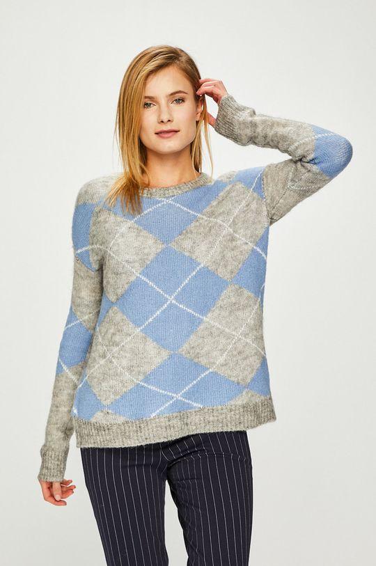 albastru Answear - Pulover De femei