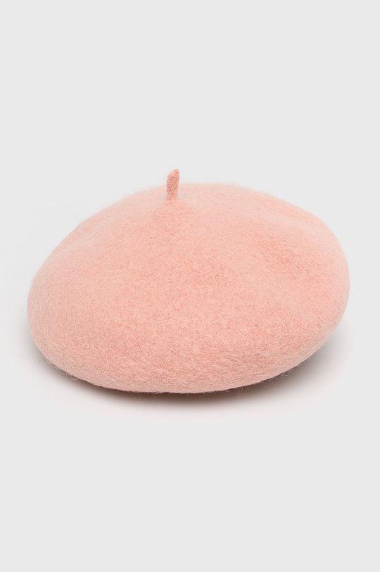pastelově růžová Answear - Baret Dámský