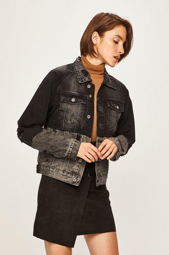 čierna Answear - Rifľová bunda