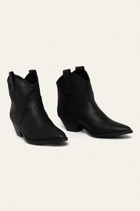 Answear - Kovbojské topánky čierna