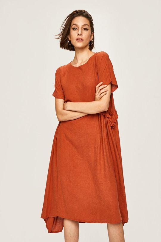 portocaliu Answear - Rochie De femei