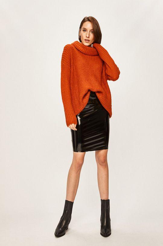 Answear Lab - Sweter pomarańczowy
