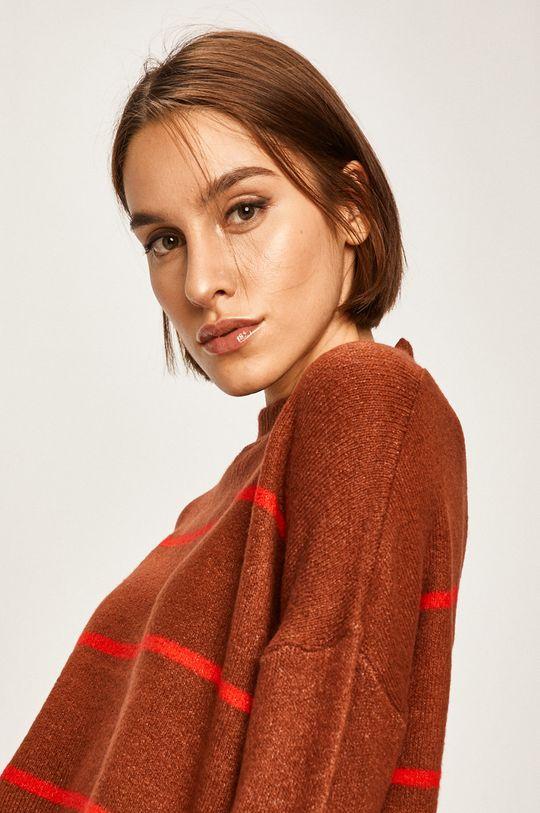 brązowy Answear Lab - Sweter