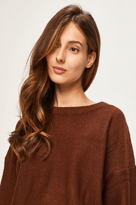 brązowy Answear - Sweter