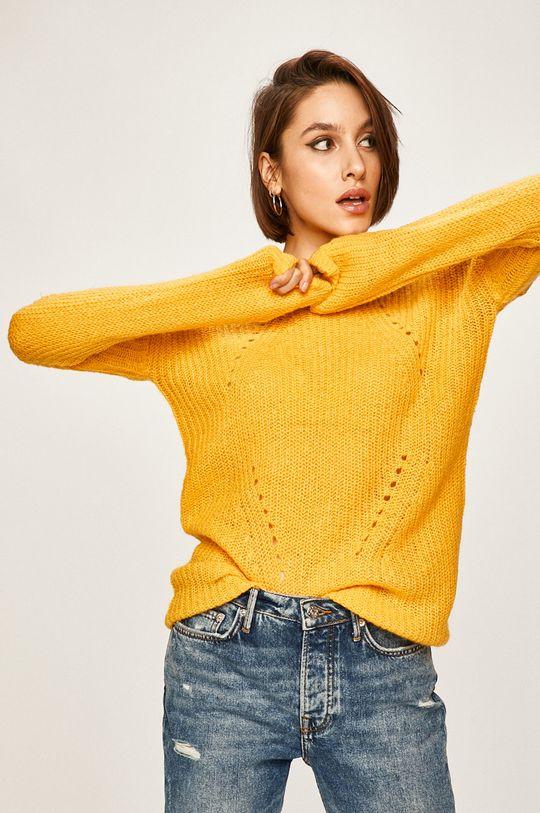 żółty Answear Lab - Sweter Damski