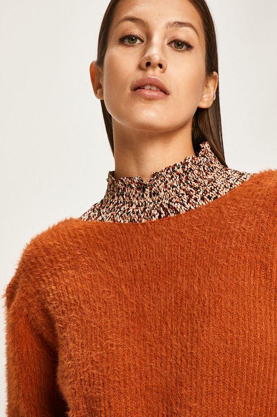 złoty brąz Answear Lab - Sweter