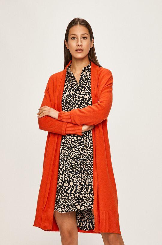 portocaliu Answear - Cardigan De femei