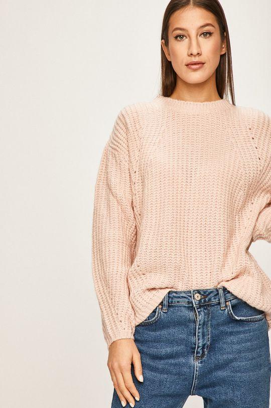 roz pastelat Answear - Pulover De femei