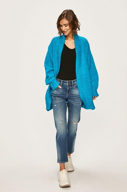 albastru Answear - Cardigan De femei