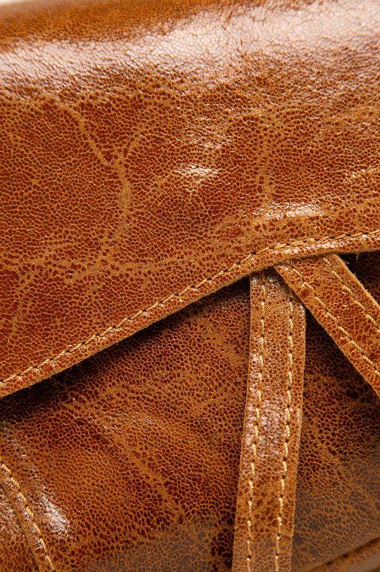 Answear - Kožená kabelka zlatohnedá