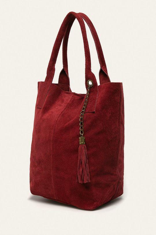 Answear - Kožená kabelka gaštanová