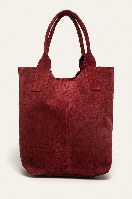 gaštanová Answear - Kožená kabelka