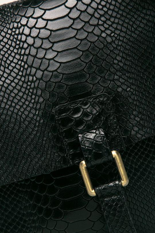 Answear - Kožená kabelka čierna