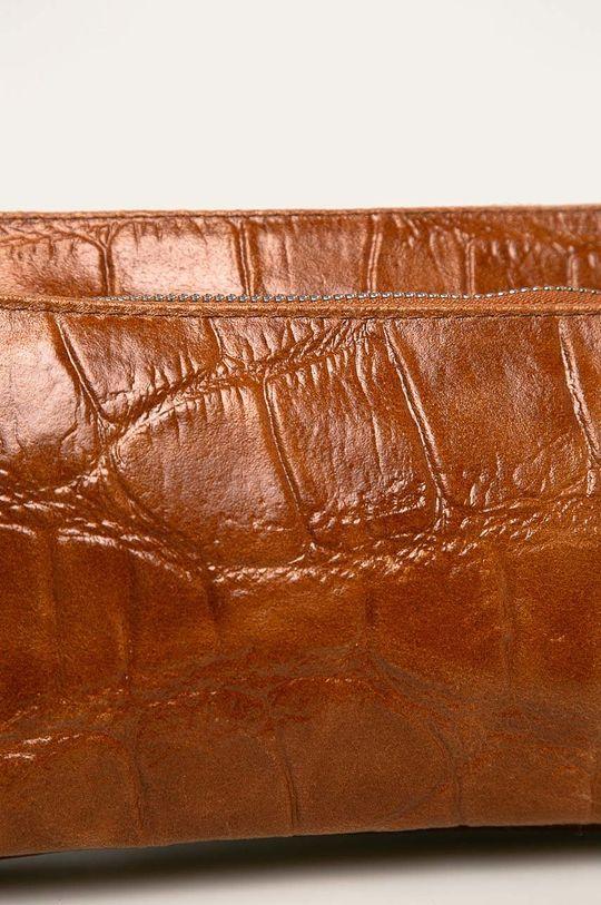 Answear - Poseta de piele maro auriu
