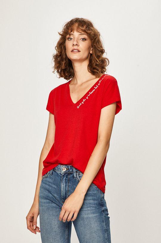 červená Answear - Tričko Dámsky