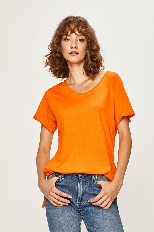 oranžová Answear - Tričko Dámsky