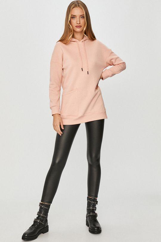 Answear Lab - Bavlněná mikina růžová