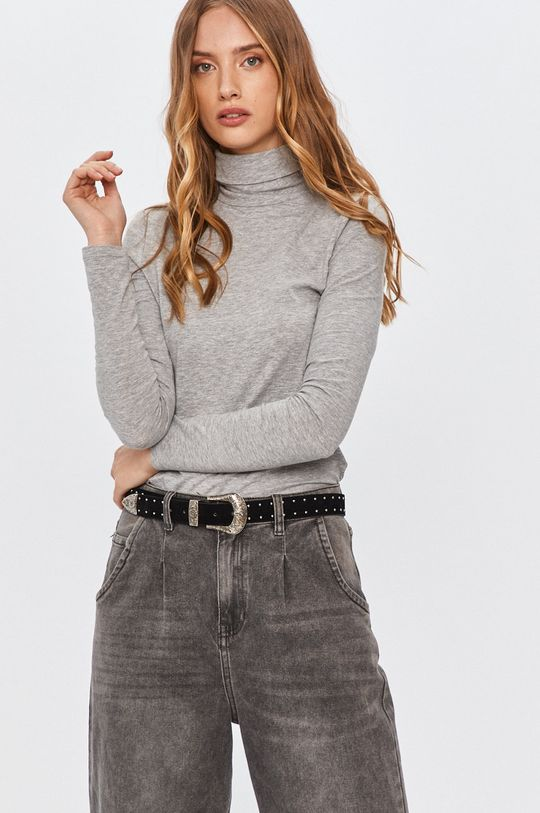jasny szary Answear - Longsleeve Answear Lab
