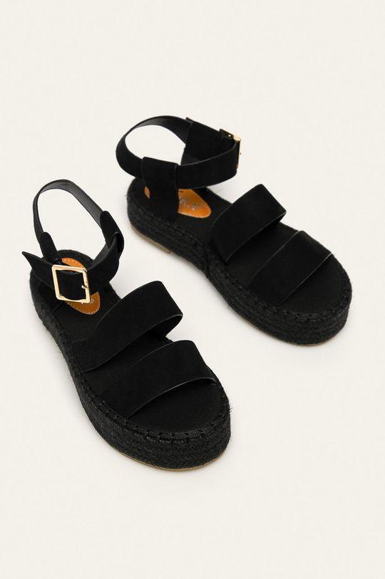 Answear - Sandale Coura negru