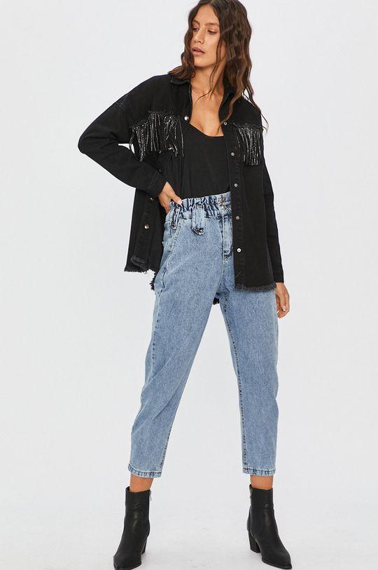 Answear Lab - Kurtka jeansowa 100 % Bawełna