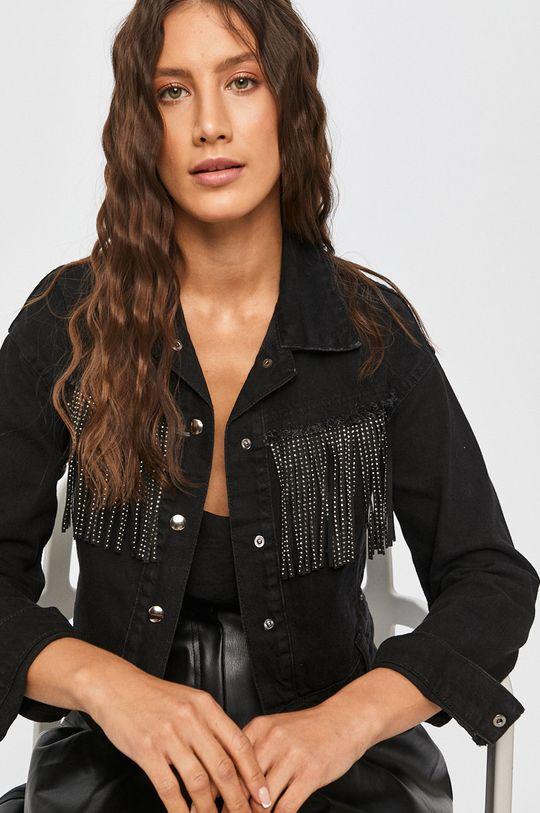 negru Answear Lab - Geaca jeans De femei
