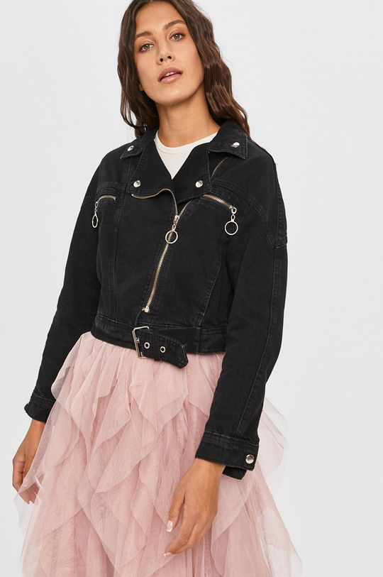 negru Answear - Geaca jeans Answear Lab De femei