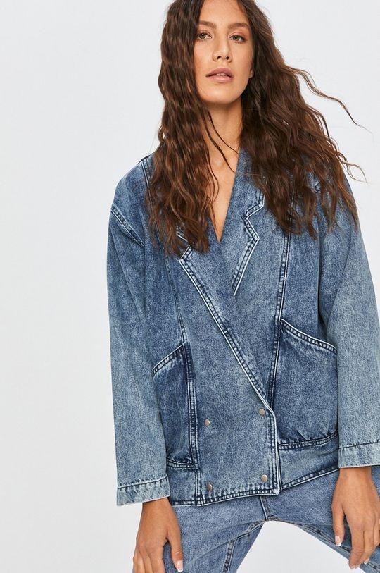 albastru Answear Lab - Geaca jeans De femei
