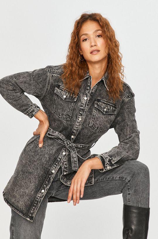 gri Answear Lab - Geaca jeans De femei