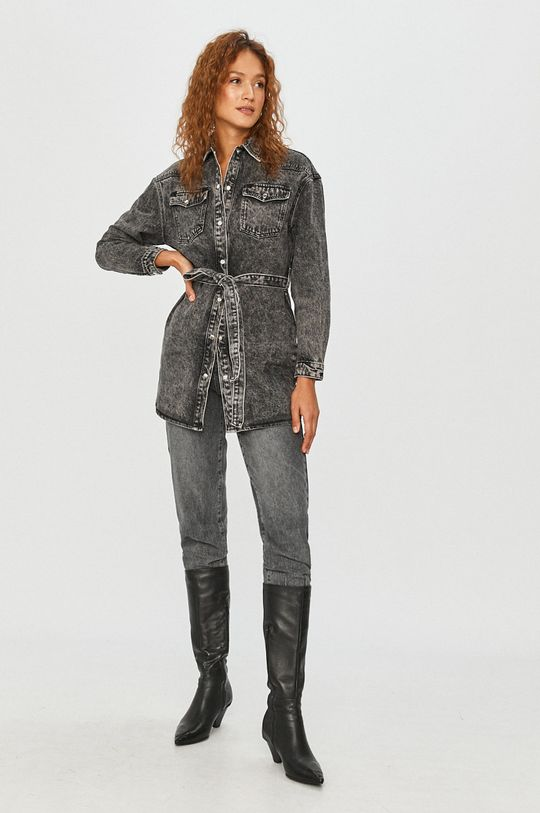 Answear Lab - Geaca jeans gri