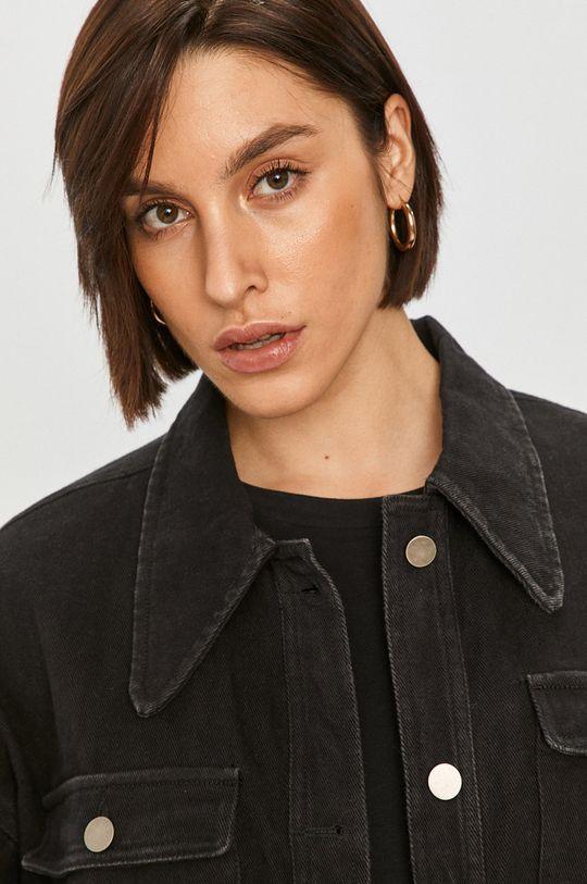 černá Answear Lab - Džínová bunda