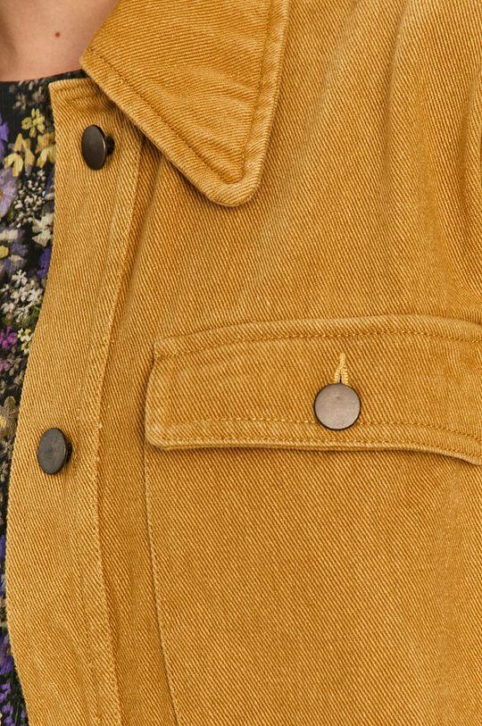 musztardowy Answear Lab - Kurtka jeansowa